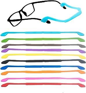 Sponsored Ad - ELANE 10Pcs Eyewear Retainer, Universal Fit No Tail Sports Sunglasses Retainer, Soft Neoprene Adjustable Su...