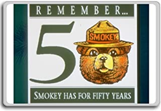 Smokey The Bear, Remember 50 Smokey Has For Fifty Years - Motivational Quotes Fridge Magnet