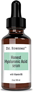 2 oz. Hyaluronic Acid Serum For Skin, Made with 100% Pure Hyaluronic Acid, Plumping, Anti-Aging, Hydrating, Moisturizing HA Serum With Vitamin B5 by Dr. Brenner