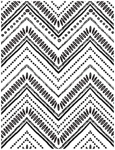 Wood Geometric Oval Stripe Peel and Stick Wallpaper Shiplap Black White Self Adhesive Removable product image