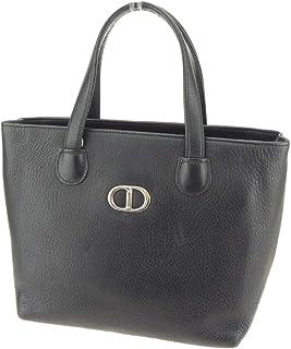 (ディオール) Christian Dior ハンドバッグ トートバッグ ブラック シルバー CDマーク レディース Q461