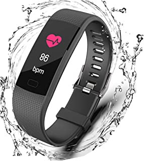 Fitness Tracker, Waterproof Activity Tracker Smart Watch with Heart Rate Monitor,Sleep Monitor, Step Counter,Calorie Counter, Pedometer Watch for Kids Women and Men