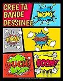 Crée ta Bande Dessinée: 120 planches de BD vierges pour adultes, ados & enfants  /Crée...