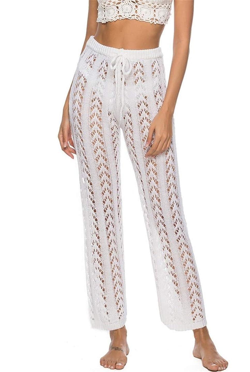 iNewbetter Women Sexy Bikini Crochet Cover Up Pants Soft Summer Hollow Beach Wear