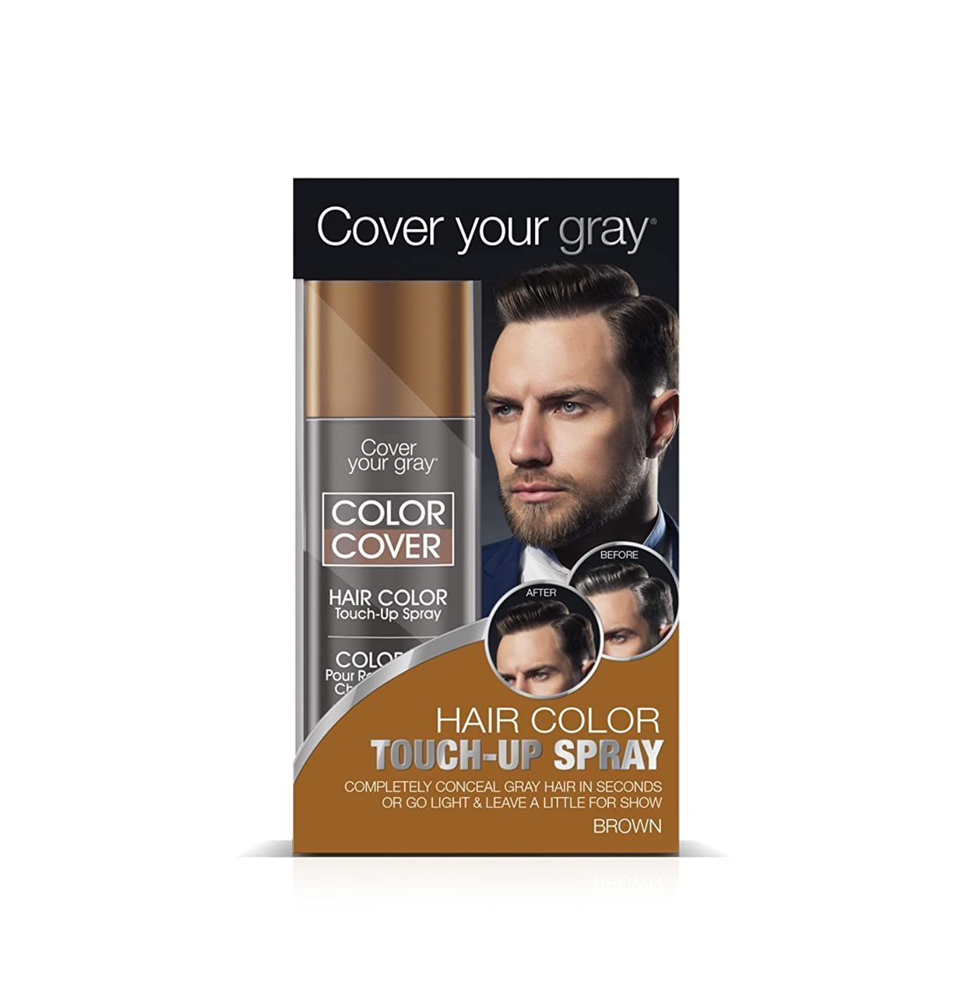 アジャ台無しに敷居Cover Your Gray メンズカラーカバータッチアップスプレー - ブラウン