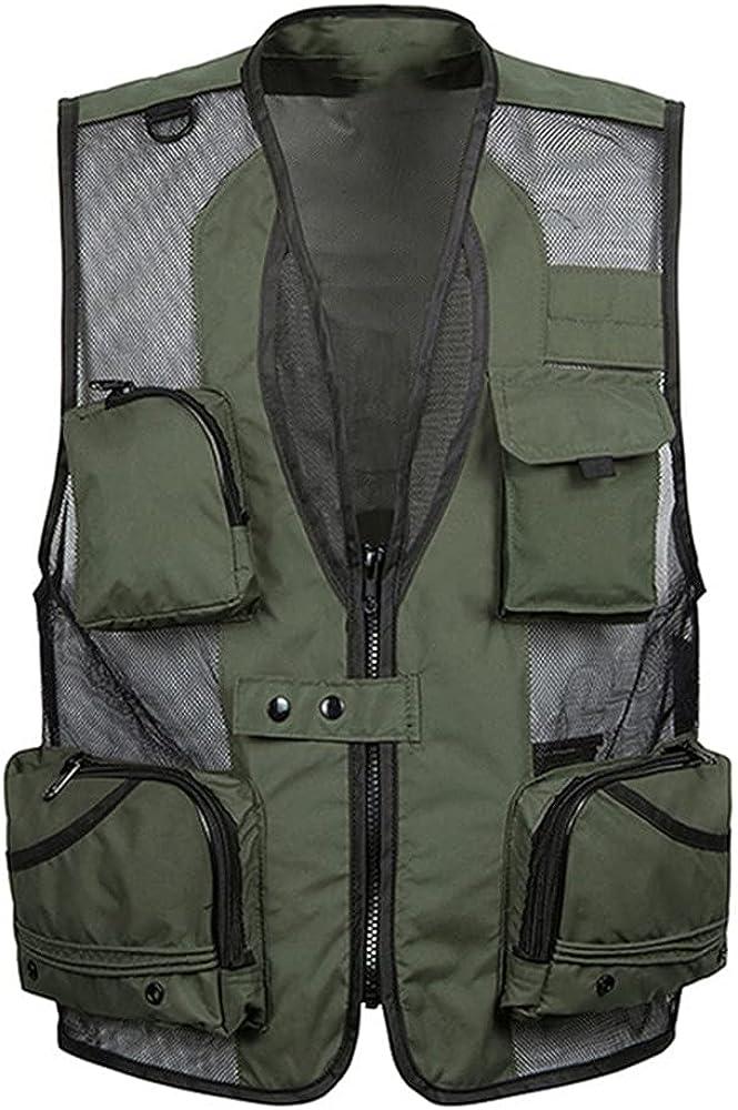 Summer Thin Mesh Vest For Men Casual Work Outerwear Varsity Multi Waistcoat