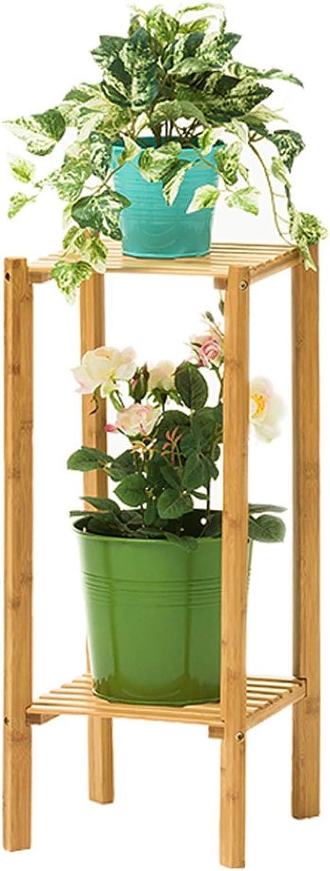 Flower racks - 2 3-tier Bamboo Shelves Flower Display Stand Plant Pots Holders Garden Balcony Living Room Indoor Flower Rack Saving Space (Size   2tier)