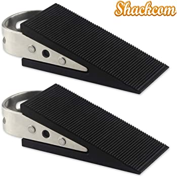 Heavy Duty Rubber Door Wedge Door Stopper Solid Stable Base Easy to Move Without Bend Down for Home Premium Door Stopper and Office