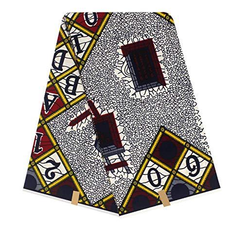 Coner Nigeriaanse Ankara Afrikaanse katoen wax prints stof voor vrouwen feestjurk kledingstukken Ambachtelijke accessoires maken, grijze purpel, 110 cm 1 meter