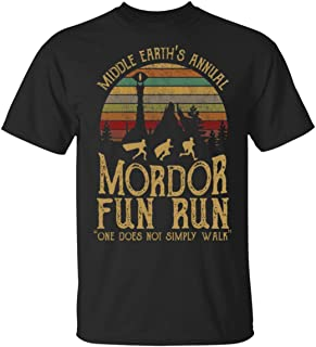Middle Earth's Annual Mordor Fun Run one Does not Simply Walk T-Shirt for Men