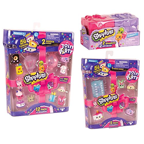 Shopkins Season 7 Shopkins Mega Gift Bundle (12-Pack/5-Pack/2-Pack) Join the Party!