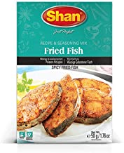 Shan Spicy Fried Fish Seasoning Mix, 50 Gram (Pack of 6)