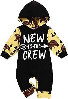 """Ubranko dla noworodka, niemowlaka, chłopca, z napisem """"Nowy w zespole"""", śpioszki, długie spodnie + czapeczka zestaw"""