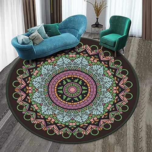 Nordic Geometric Circular Carpet Children'S Play Tent Gym Carpet Bedroom Living Room Coffee Table Floor Mat Crawling Carpet Christmas Decoration 120CM