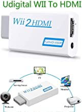 Wii to HDMI Converter with 3.5mm Video Audio Output Adapter,Supports All Wii Display Modes to 720P / 1080P HDTV & Monitor, Best Compatibility and Stability for Nintendo WII U