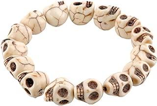 LovelyJewelry Tibetan Prayer Multi Color Skull Beads Handmade Bracelets