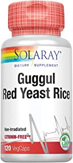 Solaray Guggul Gum Extract & Red Yeast Rice | Healthy Cardiovascular Function Support | Ancient Chinese Medicine & Ayurved...