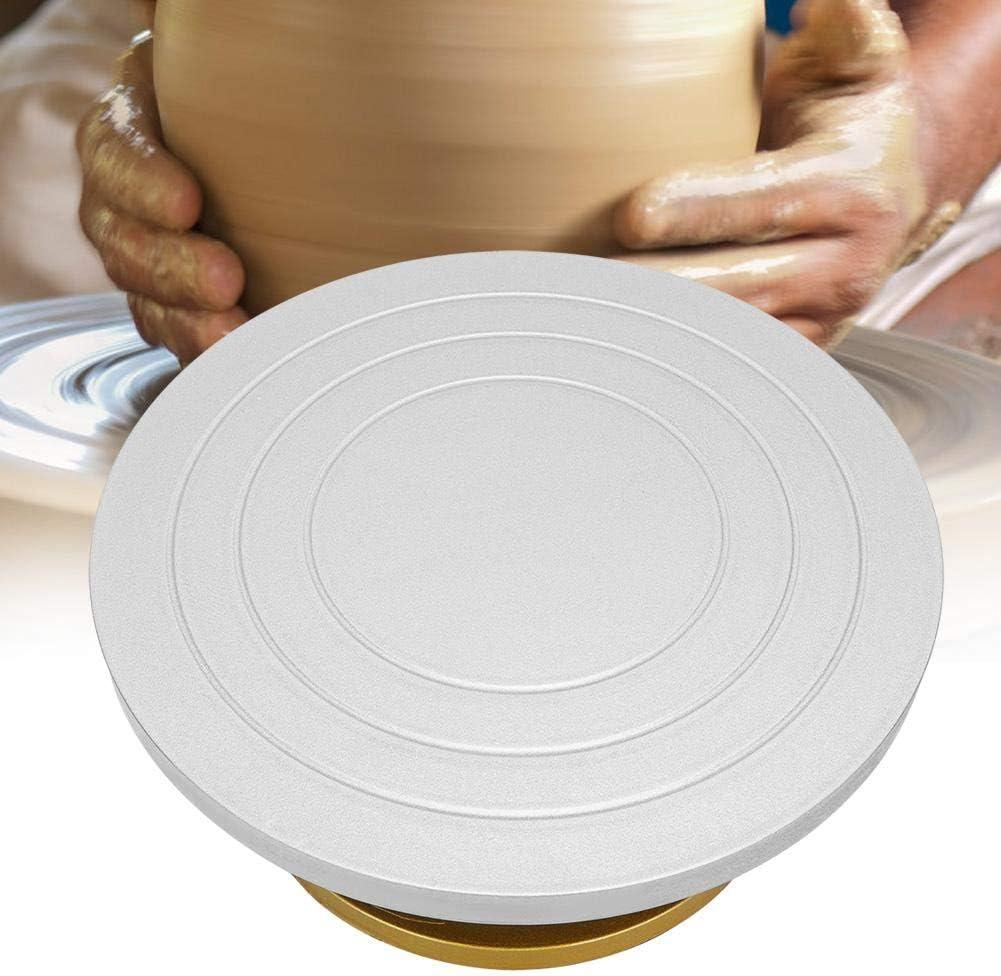 Machine en c/éramique en m/étal Delaman roue de poterie Table rotative plateau tournant en argile mod/élisation Sculpture outils en c/éramique Plateau tournant de poterie 23cm