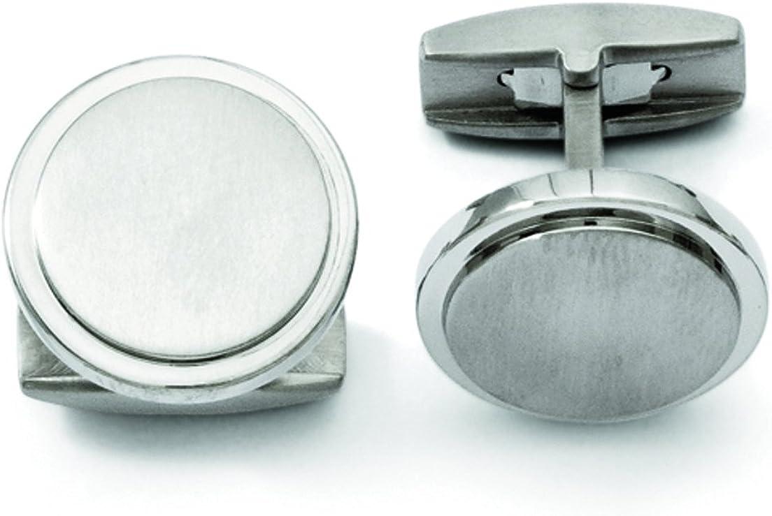 Titanium Brushed And Polished Cuff Links