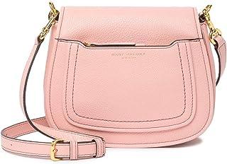Empire City Mini Messenger Leather Crossbody Bag (Rose)