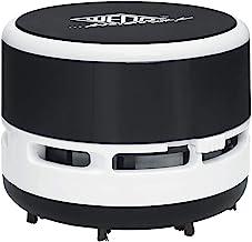Wedo 20520101 mini odkurzacz stołowy, szczotka, odkręcany pojemnik na odpady, wysokość ok. 6,3 cm, średnica 8,5 cm, w zest...
