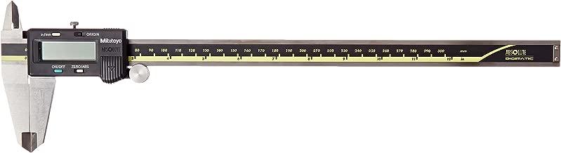 Mitutoyo 500-193 Absolute Digital Caliper, Stainless Steel, Battery Powered, Inch/Metric, 0-12