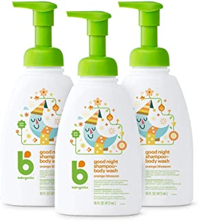 Babyganics Baby Shampoo + Body Wash Pump Bottle, Orange Blossom, Packaging May Vary, 16 Fl Oz (Pack of 3)