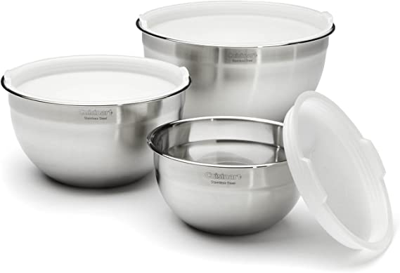 Cuisinart CTG-00-SMB Stainless Steel Mixing Bowls with Lids