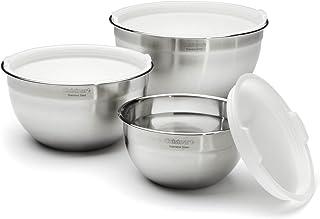 Cuisinart CTG-00-SMB Set de 3 tazones para mezclar, hechos de acero inoxidable, con tapa