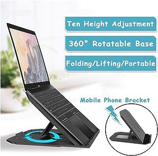 Adjustment Laptop Stand Portable Desk Rotating Bracket with Free Phone Holder, 10-Level Adjustment, 360 ° Swivel Laptop Ri...