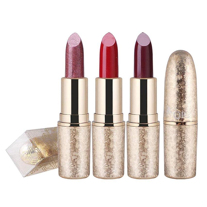 コンベンション騒症候群1ピース6色口紅用女の子女性防水長持ち保湿化粧口紅 (3)