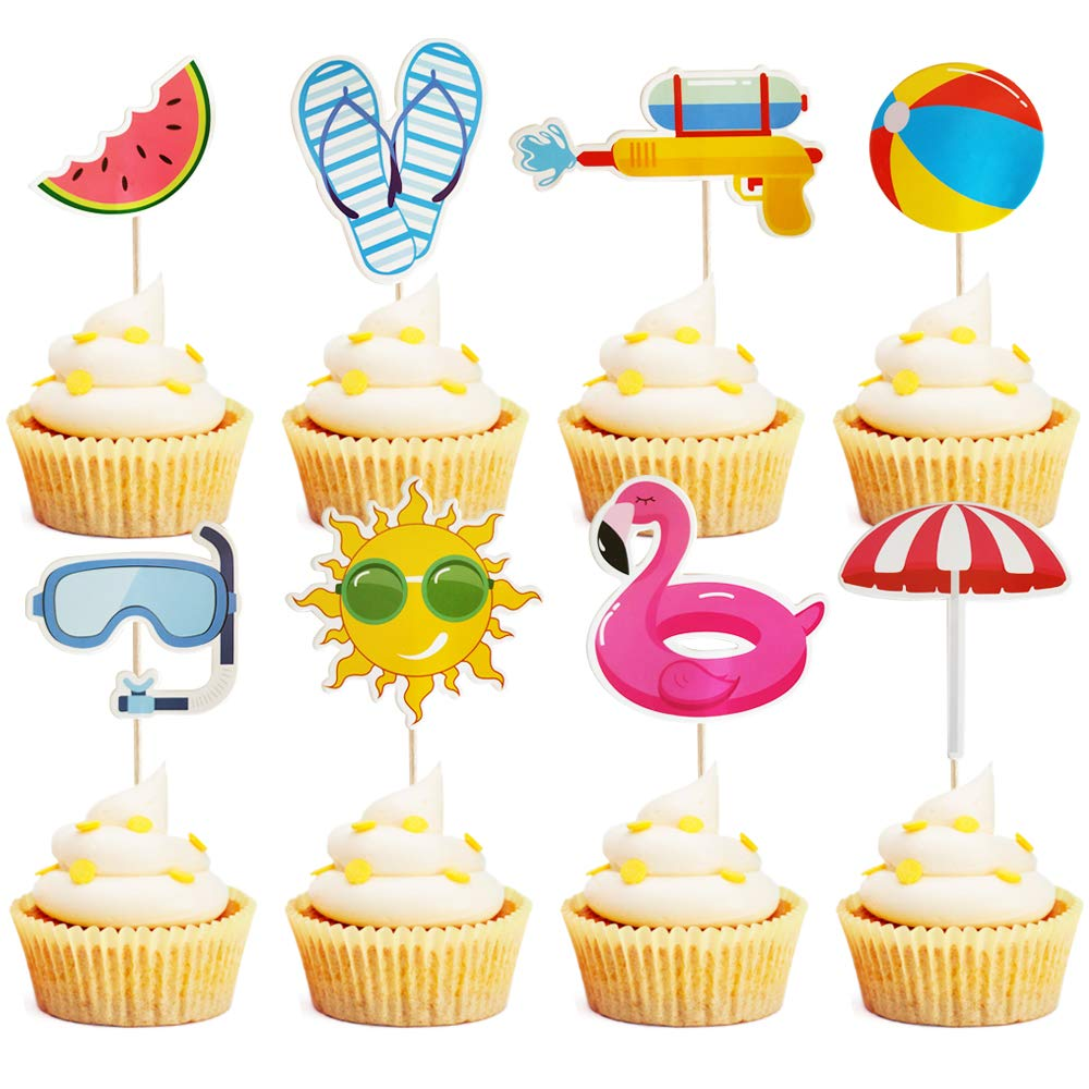Mulukaya 32Pcs Summer Pool Theme Beach Umbrella Ball Sun Slipper Nashville-Davidson 5 ☆ very popular Mall