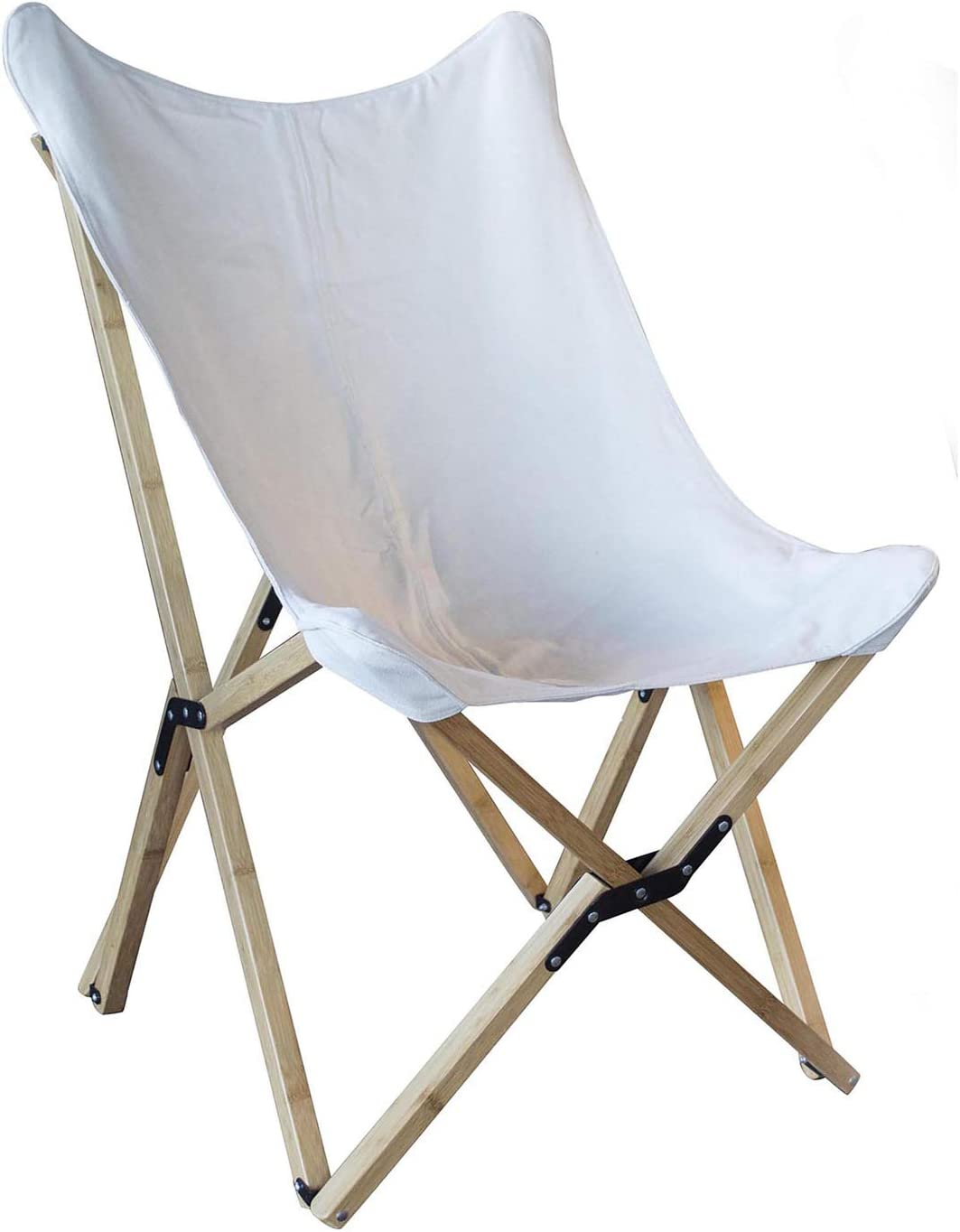 Buffalo Tools BFCBCW Butterfly Folding White Canvas Trust Fort Worth Mall Chair