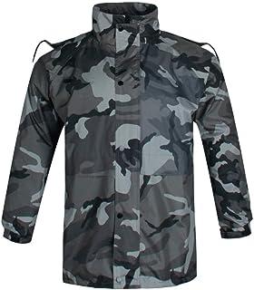 BGROESTWB Snow Rainwear Camouflage Raincoat Outdoor Camouflage Rain Suit for Fishing Camping Raincoat Multifunction Outdoo...