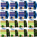 wishery Party Supplies & Favors - 16 Kids. Compatible with Nerf Guns N - Strike Elite Dart War Birthday Party Accessories Pack for Boys. Safety Eye Glasses, Face Masks, Wrist Bullet Holder