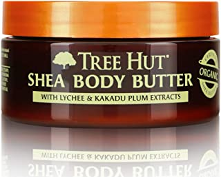 Tree Hut 24 Hour Intense Hydrating Shea Body Butter Lychee & Plum, 7oz, Hydrating Moisturizer with Pure Shea Butter for Nourishing Essential Body Care