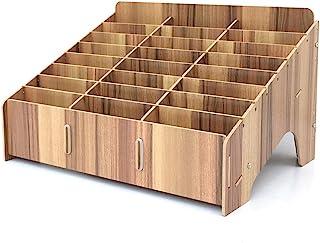 XICHENGSHIDAI صندوق تخزين الهاتف الخليوي، 24 شبكة DIY الهاتف المحمول صندوق تخزين منظم سطح المكتب مع متعدد الألوان لللوازم ...