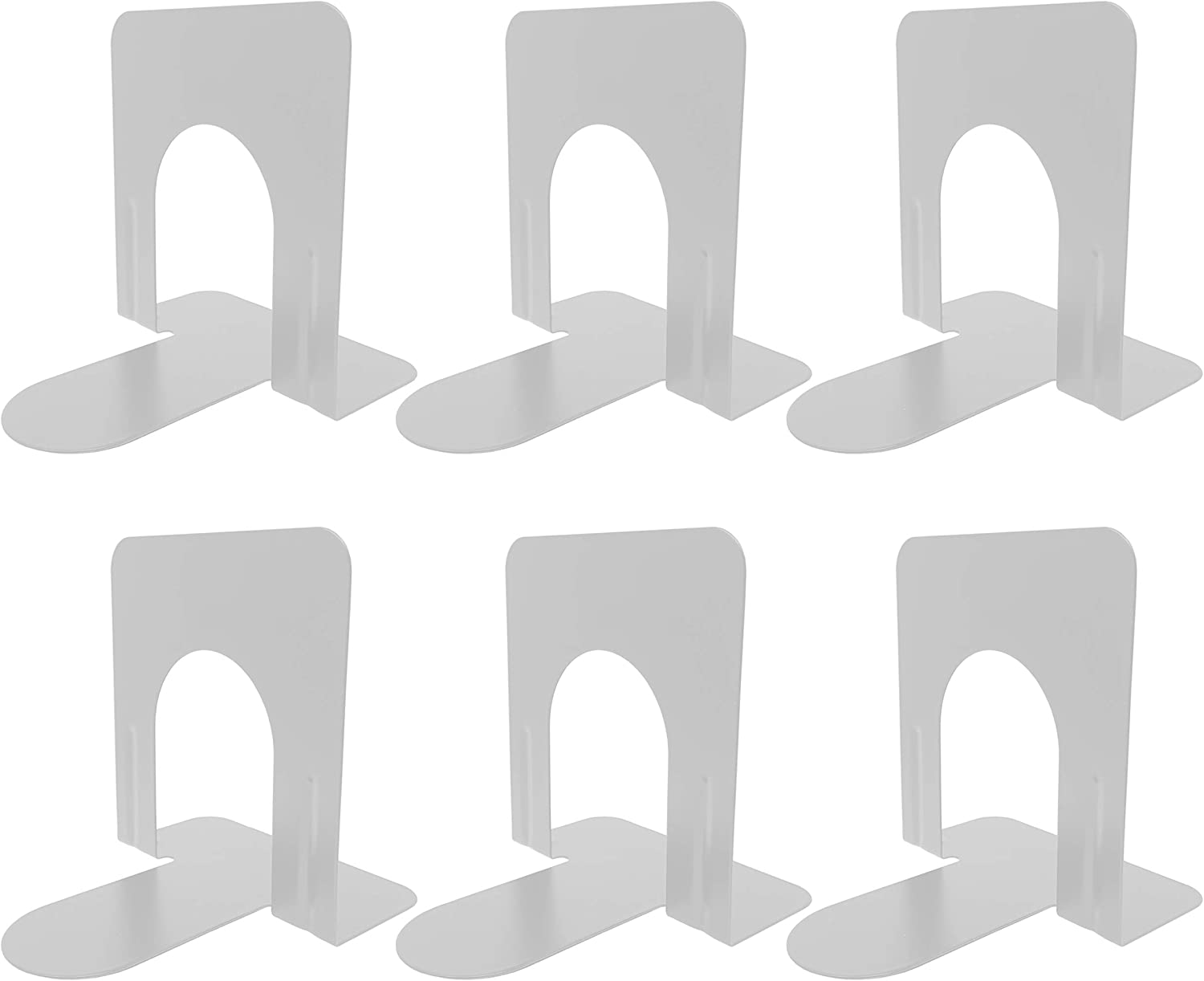 Clipco Premium Book Ends with Anti-Slip Pad 6 Pack New Shipping Free Shipping 5-inch Max 88% OFF of