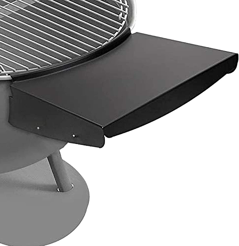 Denmay Estante de mesa para parrilla Weber Master Touch y original de 57 cm, reemplaza a Weber Grill estante lateral, mesa de barbacoa se pliega para almacenar en el interior de la parrilla