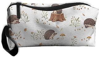 Jessent Coin Pouch Hedgehog Pen Holder Clutch Wristlet Wallets Purse Portable Storage Case Cosmetic Bags Zipper