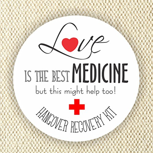 Love is the Best Medicine Labels - Bachelorette Hangover Kit Stickers - Thank You Stickers - Wedding Stickers - Bachelorette Party Stickers
