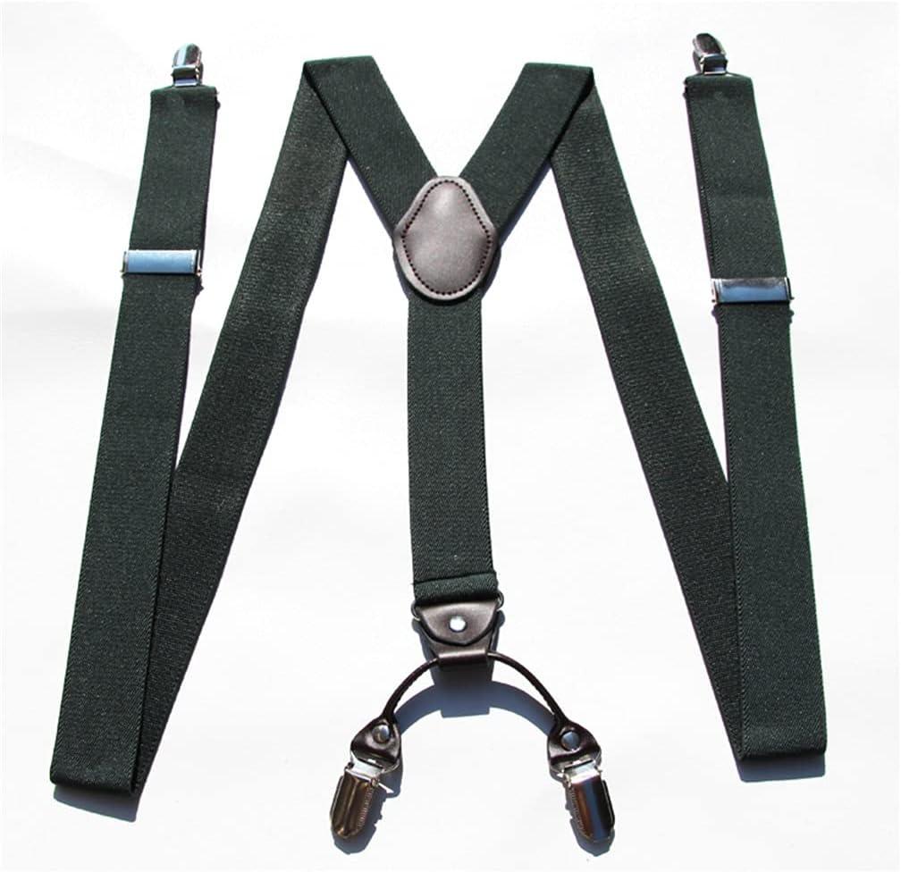 SKREOJF Braces for Men & Women Fully Adjustable Y Shape Adults Slim Suspenders Braces for Trousers (Color : A, Size : Adjustable)