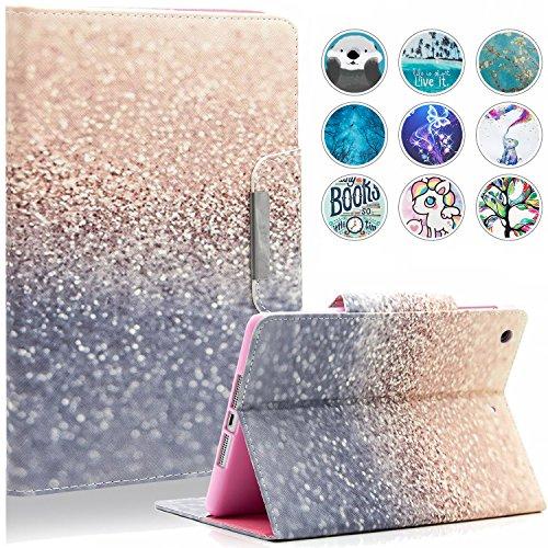 iPad Mini Case, Mini 2/3/4/5 Case, Dteck Slim Fit Folio Stand PU Leather Wallet Case with Auto Wake/Sleep Magnetic Smart Cover for Apple iPad Mini 1/2/3/4/5 (Gold Sand)