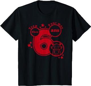Enfant cadeau anniversaire 6 ans humour - trop chou pour mes 6 ans T-Shirt