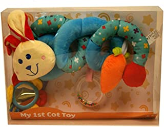 My 1st Baby Spiral Cot Activity Hanging Toy for Cot, Car Seat, Pushchair - Rabbit
