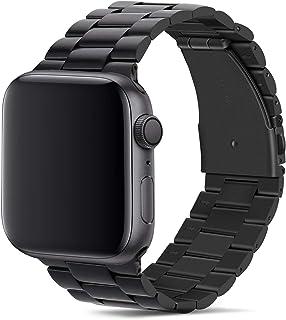 Tasikar para Correa Apple Watch 42mm 44mm Metal de Acero Inoxidable Correa de Repuesto Compatible con Apple Watch Series 5 Series 4 (44mm) Series 3 Series 2 Series 1 (42mm) - Negro
