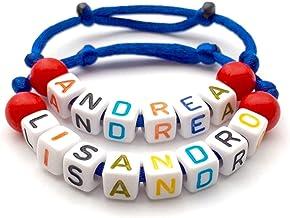 1 Braccialetto Andrea Alaia Alexie Robi. personalizzato con lettera dell'alfabeto; gioielli con nome, messaggio, logo, ini...
