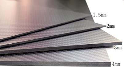 cncarbonfiber 2.0mm 200x300mm 100% Carbon Fiber Sheet Laminate Plate Panel 3K Twill Matte Finish