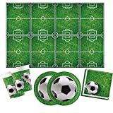 Procos 10110948B-Set da Festa, Motivo: Calcio, 53 Pezzi, Multicolore, s, 10110948B