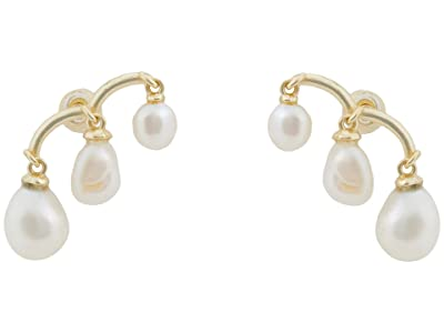 Kendra Scott Scarlet Climber Earrings (Gold White Pearl) Earring